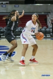 UNIVERSITY PARK, TX - JANUARY 03: Southern Methodist Mustangs guard Ariana Whitfield (2) looks to pass the ball during the women's game between SMU and UCF on January 3, 2018 at Moody Coliseum in Dallas, TX. (Photo by George Walker/Icon Sportswire)