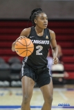 UNIVERSITY PARK, TX - JANUARY 03: UCF Knights guard Korneila Wright (2) dribbles during the women's game between SMU and UCF on January 3, 2018 at Moody Coliseum in Dallas, TX. (Photo by George Walker/Icon Sportswire)