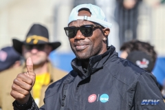 FRISCO, TX - JANUARY 6: NFL star Terrell Owens watches from the sidelines during the NCAA FCS Championship football game between North Dakota State and James Madison on January 6, 2018 at Toyota Stadium in Frisco, TX. (Photo by George Walker/DFWsportsonline)