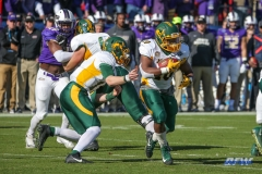 FRISCO, TX - JANUARY 6: North Dakota State Bison running back Lance Dunn (10) takes a handoff during the NCAA FCS Championship football game between North Dakota State and James Madison on January 6, 2018 at Toyota Stadium in Frisco, TX. (Photo by George Walker/DFWsportsonline)