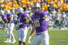 FRISCO, TX - JANUARY 06: James Madison Dukes wide receiver Riley Stapleton (10) lines up during the FCS National Championship game between North Dakota State and James Madison on January 6, 2018 at Toyota Stadium in Frisco, TX. (Photo by George Walker/Icon Sportswire)