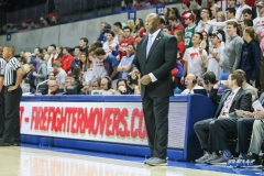 UNIVERSITY PARK, TX - JANUARY 28: East Carolina Pirates head coach Michael Perry looks on during the game between SMU and East Carolina on January 28, 2018 at Moody Coliseum in Dallas, TX. (Photo by George Walker/Icon Sportswire)