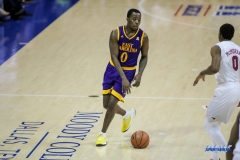 UNIVERSITY PARK, TX - JANUARY 28: East Carolina Pirates guard Isaac Fleming (0) brings the ball up court during the game between SMU and East Carolina on January 28, 2018 at Moody Coliseum in Dallas, TX. (Photo by George Walker/Icon Sportswire)