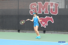 DALLAS, TX - February 03: Karina Traxler during the SMU women's tennis match vs Texas A&M Corpus Christi on February 3, 2018, at the SMU Tennis Complex, Turpin Stadium & Brookshire Family Pavilion in Dallas, TX. (Photo by George Walker/DFWsportsonline)