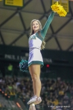 WACO, TX - FEBRUARY 04: A Baylor cheerleader performs during the men's basketball game between Baylor and Kansas State on February 4, 2017, at the Ferrell Center in Waco, TX. (Photo by George Walker/Icon Sportswire)