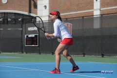 DALLAS, TX - FEBRUARY 4: Anzhelika Shapovalova during the SMU women's tennis match vs Iowa on February 4, 2018, at the SMU Tennis Complex, Turpin Stadium & Brookshire Family Pavilion in Dallas, TX. (Photo by George Walker/DFWsportsonline)