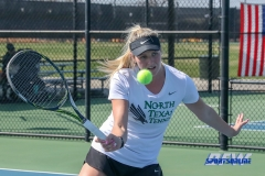 Denton, TX - March 3: Ivana Babić during the UNT Mean Green Women's Tennis dual match against the University of Houston at the Waranch Tennis Complex in Denton, TX. (Photo by Mark Woods/DFWsportsonline)