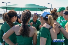 Denton, TX - March 3: Head Coach Sujay Lama talks to the team before the UNT Mean Green Women's Tennis dual match against the University of Houston at the Waranch Tennis Complex in Denton, TX. (Photo by Mark Woods/DFWsportsonline)