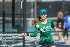 Denton, TX - March 3: Haruka Sasaki during the UNT Mean Green Women's Tennis dual match against the University of Houston at the Waranch Tennis Complex in Denton, TX. (Photo by Mark Woods/DFWsportsonline)