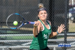 Denton, TX - March 3: Alexandra Héczey during the UNT Mean Green Women's Tennis dual match against the University of Houston at the Waranch Tennis Complex in Denton, TX. (Photo by Mark Woods/DFWsportsonline)
