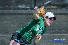 Denton, TX - March 3: Minying Liang during the UNT Mean Green Women's Tennis dual match against the University of Houston at the Warch Tennis Complex in Denton, TX. (Photo by Mark Woods/DFWsportsonanline)