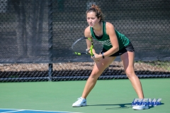 Denton, TX - March 3: Tamuna Kutubidze during the UNT Mean Green Women's Tennis dual match against the University of Houston at the Waranch Tennis Complex in Denton, TX. (Photo by Mark Woods/DFWsportsonline)