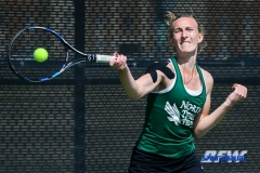 Denton, TX - March 3: Maria Kononova during the UNT Mean Green Women's Tennis dual match against the University of Houston at the Waranch Tennis Complex in Denton, TX. (Photo by Mark Woods/DFWsportsonline)