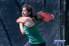Denton, TX - March 3: Nidhi Surapaneni during the UNT Mean Green Women's Tennis dual match against the University of Houston at the Waranch Tennis Complex in Denton, TX. (Photo by Mark Woods/DFWsportsonline)
