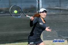 Denton, TX - March 7: Haruka Sasaki during the UNT Mean Green Women's Tennis dual match against the Middle Tennessee State University at the Waranch Tennis Complex in Denton, TX. (Photo by Mark Woods/DFWsportsonline)