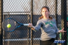 Denton, TX - March 15: Sille Tranberg during the UNT Mean Green Women's Tennis dual match against Georgia State University at the Waranch Tennis Complex in Denton, TX. (Photo by Mark Woods/DFWsportsonline)