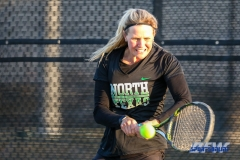 Denton, TX - March 15: Ivana Babic during the UNT Mean Green Women's Tennis dual match against Georgia State University at the Waranch Tennis Complex in Denton, TX. (Photo by Mark Woods/DFWsportsonline)