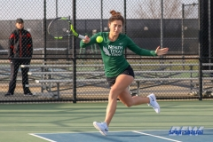 Denton, TX - March 15: Tamuna Kutubidze during the UNT Mean Green Women's Tennis dual match against Georgia State University at the Waranch Tennis Complex in Denton, TX. (Photo by Mark Woods/DFWsportsonline)