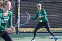 Denton, TX - March 15: Minying Liang returns serve during the UNT Mean Green Women's Tennis dual match against Georgia State University at the Waranch Tennis Complex in Denton, TX. (Photo by Mark Woods/DFWsportsonline)