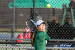 Denton, TX - March 15: Haruka Sasaki during the UNT Mean Green Women's Tennis dual match against Georgia State University at the Waranch Tennis Complex in Denton, TX. (Photo by Mark Woods/DFWsportsonline)