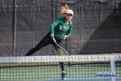 Denton, TX - March 15: Minying Liang during the UNT Mean Green Women's Tennis dual match against Georgia State University at the Waranch Tennis Complex in Denton, TX. (Photo by Mark Woods/DFWsportsonline)