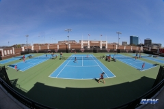 DALLAS, TX - MARCH 16: Stadium view during the SMU women's tennis match vs Troy on March 16, 2018, at the SMU Tennis Complex, Turpin Stadium & Brookshire Family Pavilion in Dallas, TX. (Photo by George Walker/DFWsportsonline)