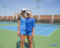 DALLAS, TX - MARCH 31: Tiffany Hollebeck and Anzhelika Shapovalova during the SMU women's tennis match vs ECU on March 31, 2018, at the SMU Tennis Complex, Turpin Stadium & Brookshire Family Pavilion in Dallas, TX. (Photo by George Walker/DFWsportsonline)