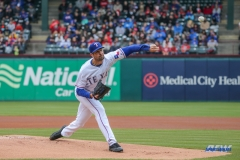 ARLINGTON, TX - APR 08: Texas Rangers starting pitcher Cole Hamels (35) delivers a pitch during the game between the Toronto Blue Jays and Texas Rangers on April 8, 2018, at Globe Life Park in Arlington, TX. (Photo by George Walker/DFWsportsonline)