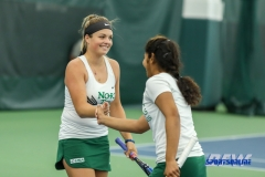 Plano, TX - April 14: Alexandra Héczey during the North Texas Women's Tennis dual match against the University of Arlington at the Lifetime Plano Tennis facility in Plano, TX. (Photo by Mark Woods/DFWsportsonline)