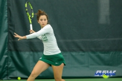Plano, TX - April 14: Tamuna Kutubidze prepares to hit a forehand during the North Texas Women's Tennis dual match against the University of Arlington at the Lifetime Plano Tennis facility in Plano, TX. (Photo by Mark Woods/DFWsportsonline)
