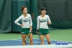 Plano, TX - April 14: Tamuna Kutubidze and Haruka Sasaki during the North Texas Women's Tennis dual match against the University of Arlington at the Lifetime Plano Tennis facility in Plano, TX. (Photo by Mark Woods/DFWsportsonline)