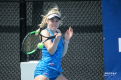 DALLAS, TX - APRIL 19: Nicole Petchey during the SMU women's tennis match vs USF on April 19, 2018, at the SMU Tennis Complex, Turpin Stadium & Brookshire Family Pavilion in Dallas, TX. (Photo by George Walker/DFWsportsonline)