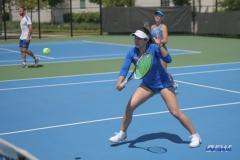 DALLAS, TX - APRIL 19: Sarai Monarrez Yesaki during the SMU women's tennis match vs USF on April 19, 2018, at the SMU Tennis Complex, Turpin Stadium & Brookshire Family Pavilion in Dallas, TX. (Photo by George Walker/DFWsportsonline)