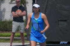DALLAS, TX - APRIL 19: Ana Perez-Lopez during the SMU women's tennis match vs USF on April 19, 2018, at the SMU Tennis Complex, Turpin Stadium & Brookshire Family Pavilion in Dallas, TX. (Photo by George Walker/DFWsportsonline)