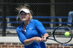 DALLAS, TX - APRIL 19: Anzhelika Shapovalova during the SMU women's tennis match vs USF on April 19, 2018, at the SMU Tennis Complex, Turpin Stadium & Brookshire Family Pavilion in Dallas, TX. (Photo by George Walker/DFWsportsonline)