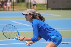 DALLAS, TX - APRIL 19: Tiffany Hollebeck during the SMU women's tennis match vs USF on April 19, 2018, at the SMU Tennis Complex, Turpin Stadium & Brookshire Family Pavilion in Dallas, TX. (Photo by George Walker/DFWsportsonline)