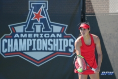 DALLAS, TX - APRIL 20: Ana Perez-Lopez during the SMU women's tennis match vs UCF on April 20, 2018, at the SMU Tennis Complex, Turpin Stadium & Brookshire Family Pavilion in Dallas, TX. (Photo by George Walker/DFWsportsonline)