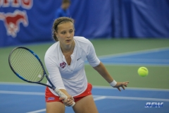 DALLAS, TX - APRIL 21: Liza Buss during the SMU women's tennis match vs Tulsa on April 21, 2018, at the SMU Tennis Complex, Turpin Stadium & Brookshire Family Pavilion in Dallas, TX. (Photo by George Walker/DFWsportsonline)