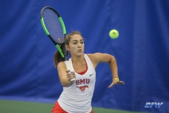 DALLAS, TX - APRIL 21: Charline Anselmo during the SMU women's tennis match vs Tulsa on April 21, 2018, at the SMU Tennis Complex, Turpin Stadium & Brookshire Family Pavilion in Dallas, TX. (Photo by George Walker/DFWsportsonline)