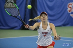DALLAS, TX - APRIL 21: Nicole Petchey during the SMU women's tennis match vs Tulsa on April 21, 2018, at the SMU Tennis Complex, Turpin Stadium & Brookshire Family Pavilion in Dallas, TX. (Photo by George Walker/DFWsportsonline)