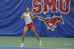 DALLAS, TX - APRIL 21: Ana Perez-Lopez during the SMU women's tennis match vs Tulsa on April 21, 2018, at the SMU Tennis Complex, Turpin Stadium & Brookshire Family Pavilion in Dallas, TX. (Photo by George Walker/DFWsportsonline)