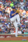 ARLINGTON, TX - JUNE 09: Texas Rangers pitcher Mike Minor (36) winds up during the game between the Texas Rangers and the Houston Astros on June 9, 2018 at Globe Life Park in Arlington, TX. (Photo by George Walker/Icon Sportswire)