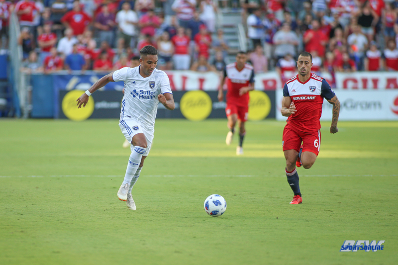 August 4, 2018: Game action during the MLS game between FC Dallas and San Jose Earthquakes on August 4, 2018, at Toyota Stadium in Frisco, TX. (Photo by George Walker/DFWsportsonline)