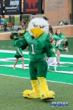 DENTON, TX - SEPTEMBER 01: UNT mascot Scrappy (1) during the game between North Texas and SMU on September 1, 2018 at Apogee Stadium in Denton, TX. (Photo by Mark Woods/DFWsportsonline)