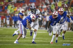 DALLAS, TX - SEPTEMBER 07: TCU Horned Frogs running back Sewo Olonilua (33) carries the ball during the game between TCU and SMU on September 7, 2018 at Gerald J. Ford Stadium in Dallas, TX. (Photo by George Walker/DFWsportsonline)