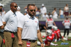 DALLAS, TX - SEPTEMBER 16: SMU offensive coordinator Joe Craddock before the game between the SMU Mustangs and TCU Horned Frogs on September 16, 2017, at Amon G. Carter Stadium in Fort Worth, Texas. (Photo by George Walker/DFWsportsonline)
