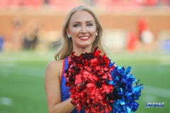 DALLAS, TX - SEPTEMBER 23: SMU Pom Squad member performs during the game between SMU and Arkansas State on September 23, 2017, at Gerald J. Ford Stadium in Dallas, TX. (Photo by George Walker/DFWsportsonline)