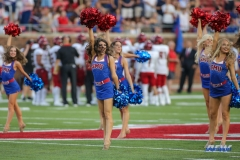 DALLAS, TX - SEPTEMBER 23: SMU Pom Squad performs during the game between SMU and Arkansas State on September 23, 2017, at Gerald J. Ford Stadium in Dallas, TX. (Photo by George Walker/DFWsportsonline)