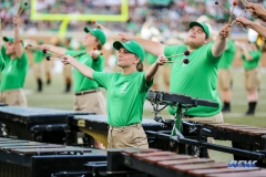 DENTON, TX - SEPTEMBER 23: UNT GREEN BRIGADE MARIMBA PLAYER DURING HALFTIME AT UNT MEAN GREEN AND UAB BLAZERS ON SEPTEMBER 23, 2017, AT APOGEE STADUIM IN DENTON, TEXAS. (PHOTO BY MARK WOODS/DFWSPORTSONLINE)