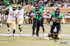 DENTON, TX - SEPTEMBER 23: UNT RUNNING BACK JEFFERY WILSON (11) DURING THE GAME BETWEEN THE UNT MEAN GREEN AND UAB BLAZERS ON SEPTEMBER 23, 2017, AT APOGEE STADUIM IN DENTON, TEXAS. (PHOTO BY MARK WOODS/DFWSPORTSONLINE)
